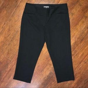 EXPRESS EDITOR BLACK CROP PANTS SZ 6R
